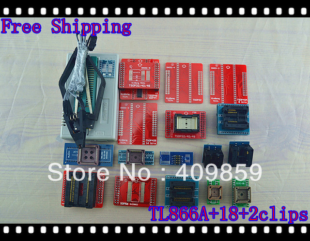 Free shipping 2016 new version V6.5 English&Russian Manual TL866A+20Items USB Universal willem Bios programmer support 14037chip