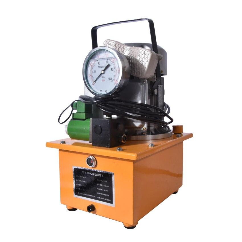 1 pc vente Chaude Hydraulique pompe électrique 220 v/380 v 750 w ZCB-700D, huile reservoil capacité 7L,