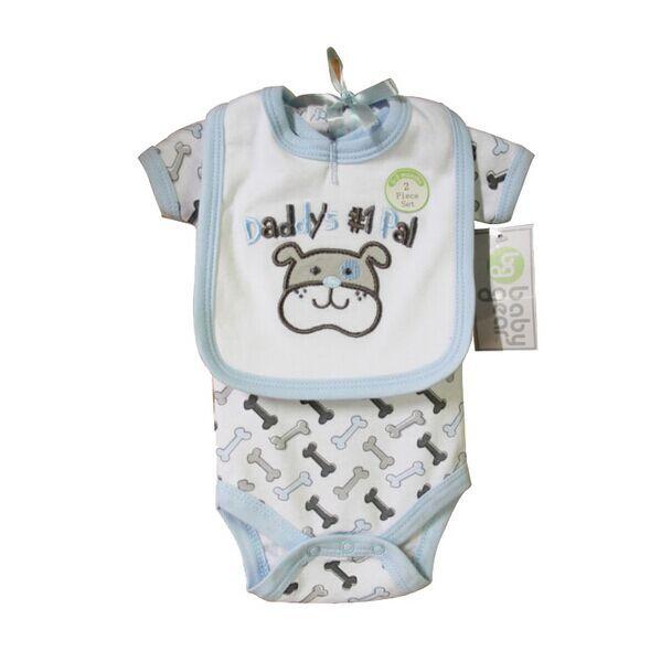 High Quality 2 Pcs Lot Baby Clothes Set Cheap Short Sleeve