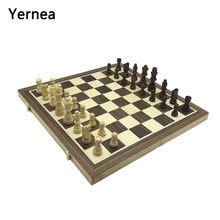 Yernea Magnetic Chess Wooden board game Set Solid Wood Chessboard Pieces Entertainment Games