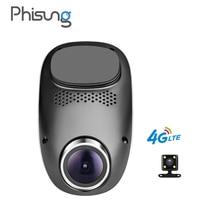 Phisung T1 4 г dashcam Android GPS ADAS тире камеры двойной объектив Камара automovil Ночное видение авто камера Мини Автомобильный видеорегистратор wi-Fi