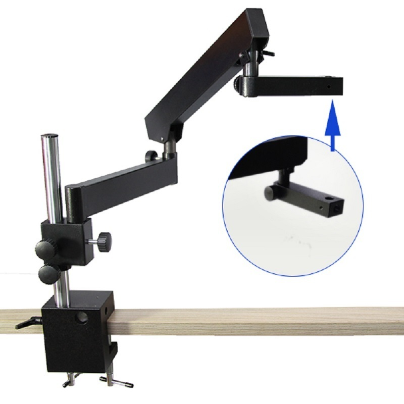 Flexible Binocular Trinocular Stereo Zoom Microscope Stand Articulating Arm Clamp Pillar Stand Microscope Stage Accessories binocular trinocular continuous zoom stereo microscope vertical base stand