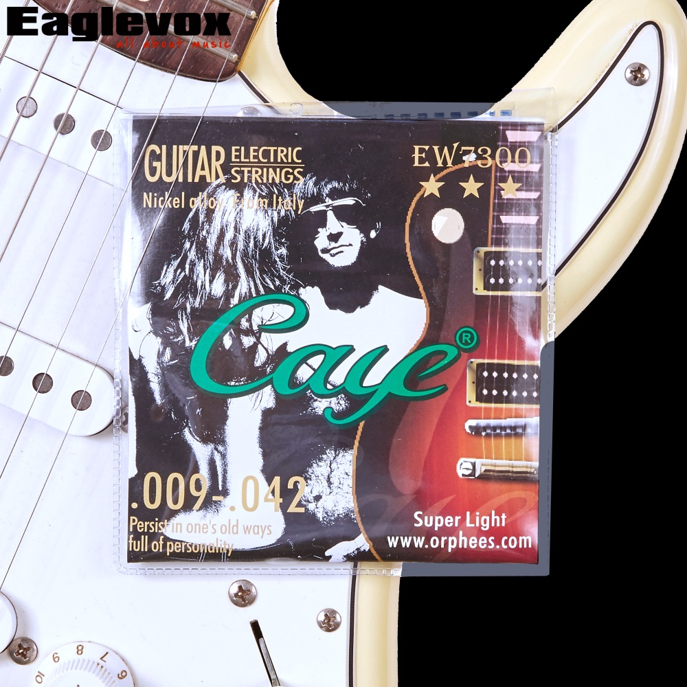 009 010 011 Electric guitar strings Nickel alloy Caye EW7300 EW7400 EW7500 EW7600 009 042 electric guitar strings color nickel alloy hat cew730