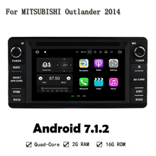 Android 7.1.2 RAM 2G ROM 16G Car Radio For MITSUBISHI Outlander 2014 Mirror Link Car DVD Player Auto Multimedia Stereo SAT