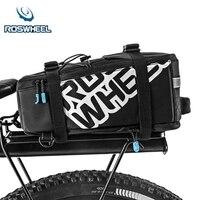 ROSWHEEL 5L Bicycle Carrier Bag Rack Trunk Bike Luggage Back Seat Pannier Outdoor Cycling Storage Handbag Shoulder Strip