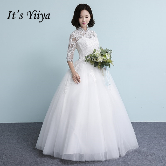 It\'s YiiYa Off White Sales Half Sleeve Wedding Frocks Summer Court ...