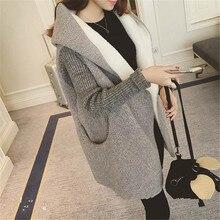 Куртка из овчины для девушек, студенток, осенняя, свободная, большой размер, тонкая, длинное пальто, вязанные рукава, одна пуговица, Женская куртка, MZ3083