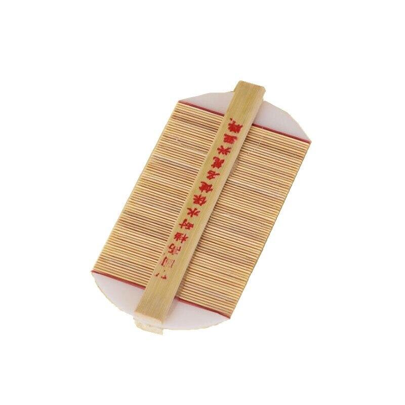 Китайская традиционная бамбуковая расческа для вшей, ручная работа, плотная зубная расческа, удаление перхоти, зуд, соскабливание головы, блошиные расчески - Цвет: Natural color