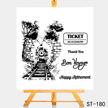 AZSG Friends bon voyage Clear Stamps For DIY Scrapbooking Rubber Stamp/ Seal Paper Craft Stamp Card Making