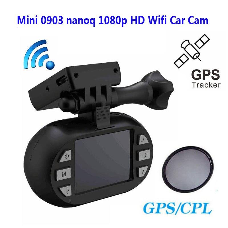 Бесплатная доставка! Оригинальный мини 0903/nanoq не 1080P HD Wifi автомобиля регистраторы конденсатор 7 г NT96655 IMX322 gps + дополнительная CPL
