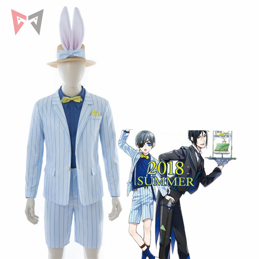 MMGG 2018 new Black Butler cosplay Ciel Phantomhive cosplay costume new set custom made size