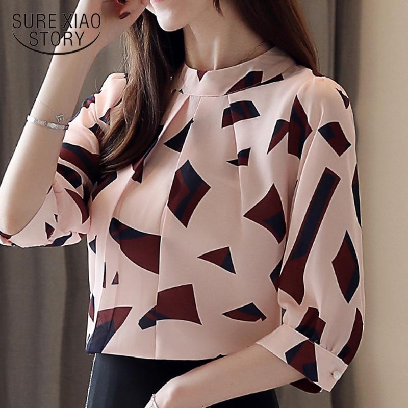 Blusas Mujer De Moda 2019 Womens Clothing Summer Blouses Women Print Chiffon Blouse Women Shirts Womens Tops And Blouses 4482 50