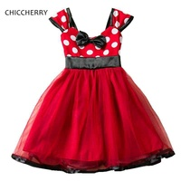 Vestido Minnie Polka Dots Red Christmas New Year Costumes For Girls Dresses For Party And Wedding