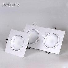 LED Downlight 10W 2*10W Square Recessed Lamp 220V 230V 240V 110V Led Bulb Bedroom Kitchen Indoor Spot Lighting