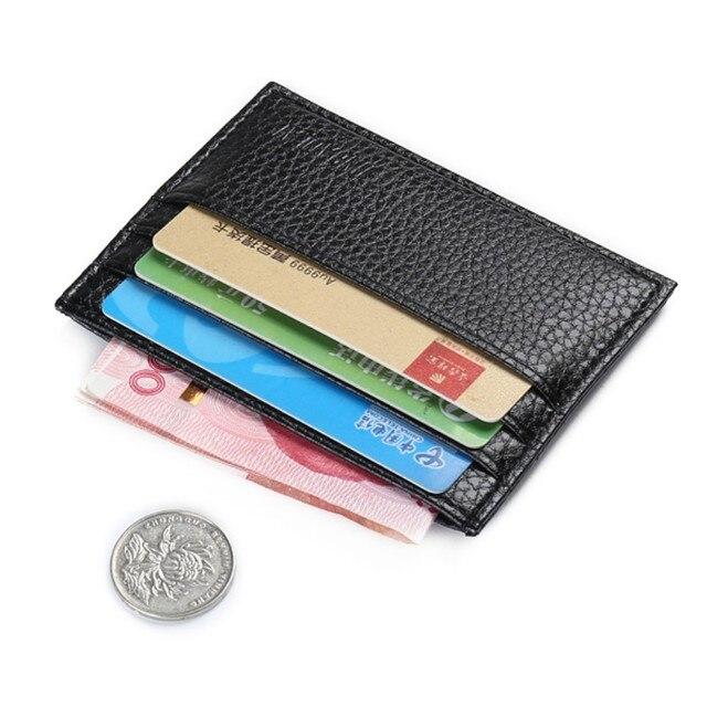 2sided Card Slots Slim Mini Credit Holder Bus Bag Small Wallet Men Women Purse