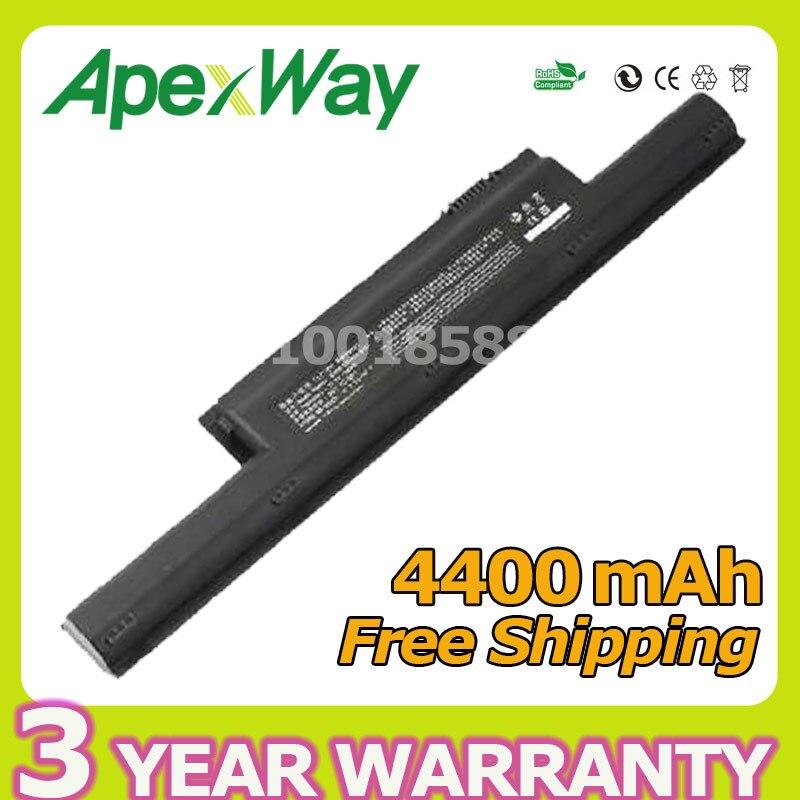 Apexway 4400 mAh batterie d'ordinateur portable E500-3S4400-B1B1 pour HASEE K500A K500B-i7 D1 pour l'avent NIWILL