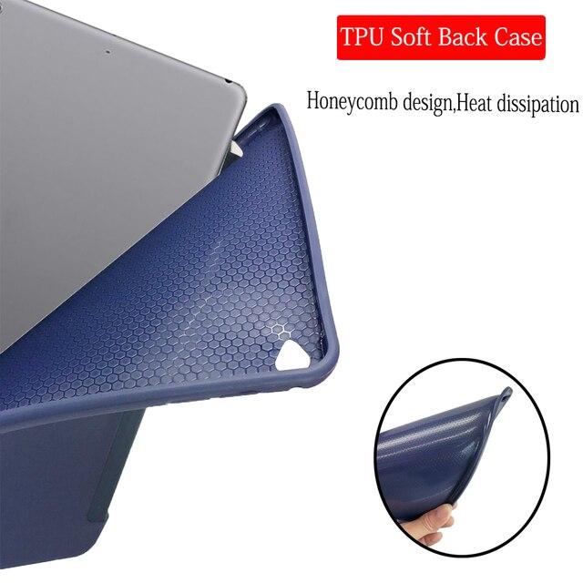 Capa para ipad mini 3 2 1 caso de couro do plutônio silicone macio capa traseira com trifold suporte auto sono inteligente capa para ipad mini2 funda 4