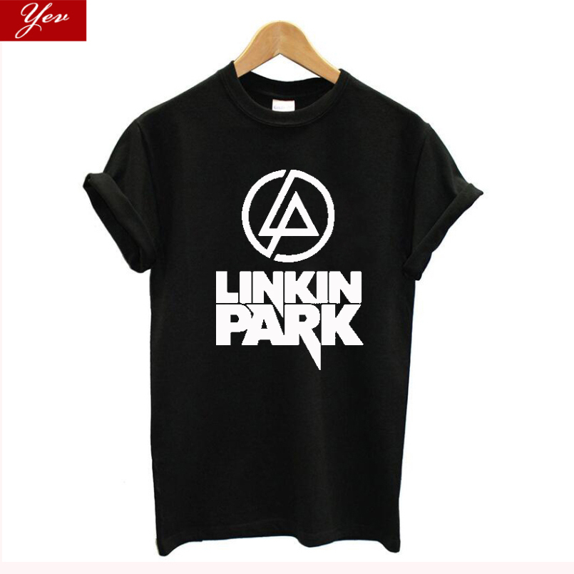 Linkin Park T Shirts Women/men Rock Band Streetwear Plus Size Vintage Tops Cotton Cool T-Shirt Tee Shirt Femme Clothes 2019