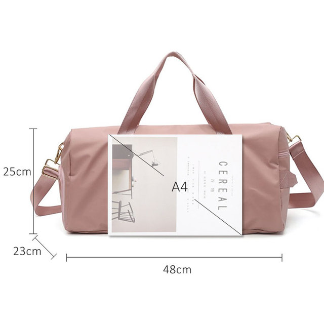 Waterproof Outdoor Sports Gym Fitness Travel Nylon Bag with Shoes Compartment