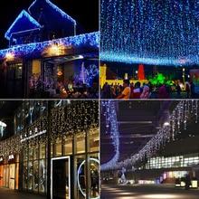 L3m 220V PVC LED Dekorim i dritës së akullit Krishtlindjeve dekoratë në natyrë festa e dasmës ndez dritat e zanave të kopshtit