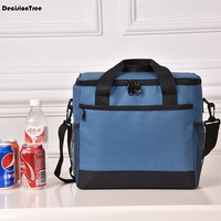 Outdoor Large Capacity Lunch Bag Waterproof Bag Bento Pouch Picnic Totes Storage Carry Case Cooler Insulated Canvas Bag 34