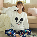 Mickey Mouse  dresses for pregnant maternity wear lactation clothing for feeding pajamas Thin A Dress Winter Spring Autumn