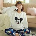 Mickey Mouse vestidos para embarazadas ropa de maternidad lactancia ropa de lactancia pijamas Delgada Un Vestido de Invierno Primavera Otoño