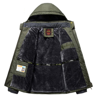 Winter Fleece Military Hiking Jackets Men Windproof Waterproof Outwear Parka Mens Windbreaker Army Raincoat Coat Overcoat