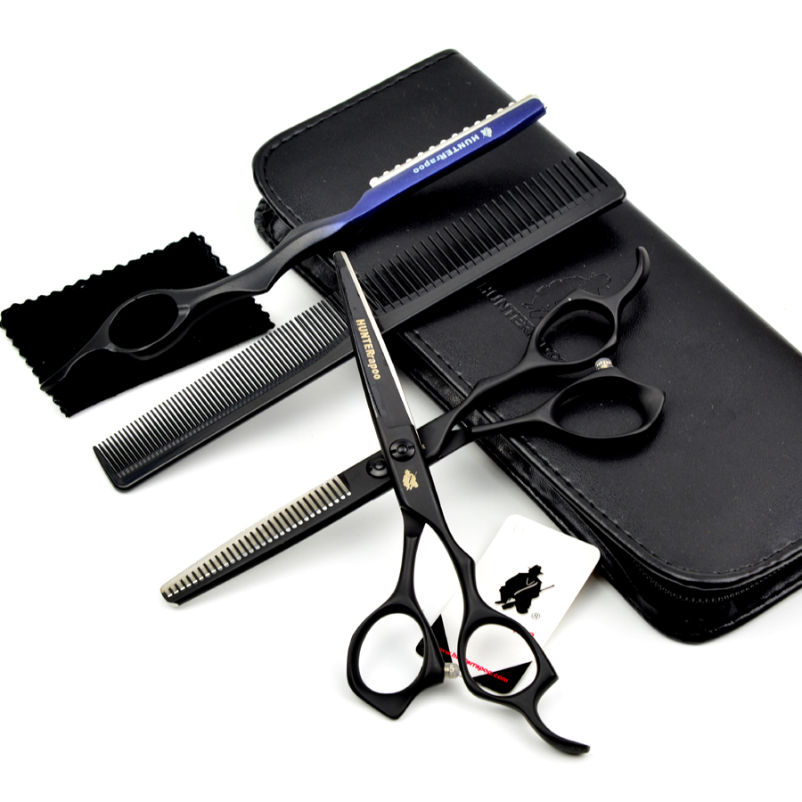 Free Shipping: 6 inch Professional Hairdresser Using scissors for cutting hair,Straight scissor & thinning shears tesoura cabelo