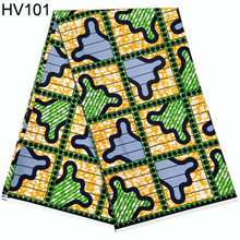 veritable wax guaranteed real dutch ankara fabric african wax prints fabric 6 yards HV101 2019 java wax print fabrics dutch wax ankara veritable african wax prints fabrics 100% cotton