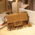 Qiu dong with leather tassel bag handbag vintage star female winter frosted sheet in same bag shoulder bag