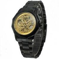 Winner Brand Steel Watch Men Fashion Clock Skeleton Automatic Mechanical Relogio Male Luxury Montre Wristwatch Reloj