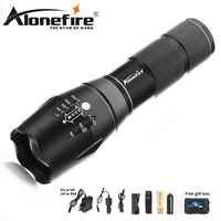 Alonefire E17 8000LM T6 L2 V6 светодиодный вспышка светильник светодиодный тактический вспышки светильник ультра яркий фонарь светильник Масштабируем...