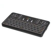 2.4 ghzフライエアマウスq9ミニワイヤレスキーボードタッチパッド2.4gリモート用pcアンドロイドtvボックスバックライト