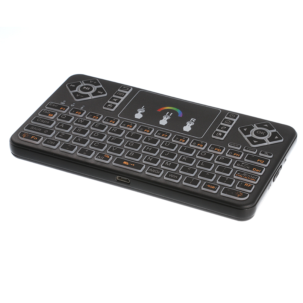 2.4GHz Fly Air Mouse Q9 Mini Wireless Keyboard Touchpad Air Mouse Fly Mouse Remote For PC Android TV BOX BACKLIGHT