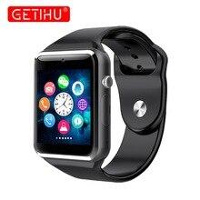 A1 Смарт-часы Smartwatch Bluetooth наручные спортивные часы sim-tf телефон наручные часы камеры для Apple iPhone Android samsung Для мужчин Вах