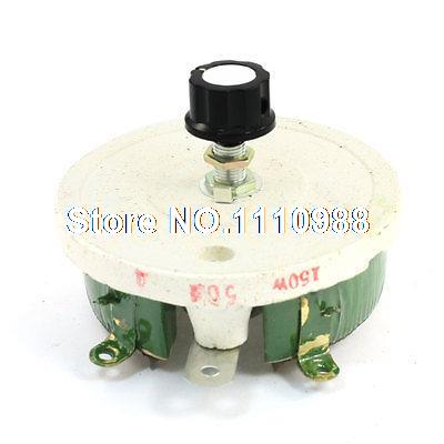 Wirewound Ceramic Potentiometer Linear Rheostat Resistor 150W 50 Ohm variable resistor wire wound rheostat 50w 20 ohm 20ohm