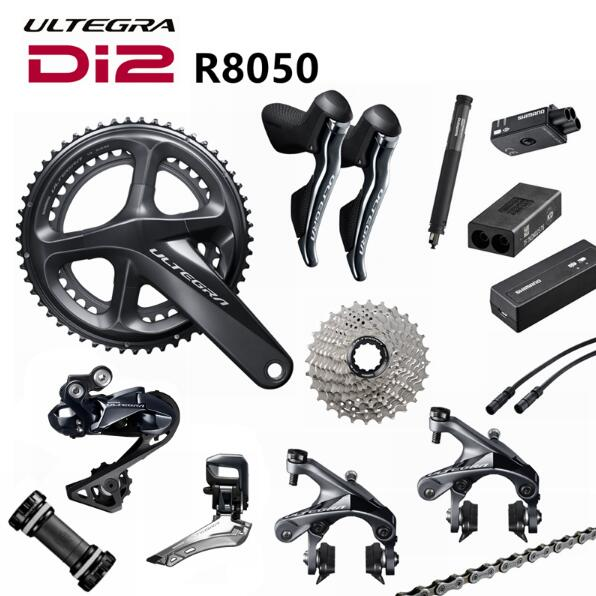 Shimano Di2 Ultegra R8050 50/34T 53/59T 165/170/172.5/175mm 2*11 22 Speed Road Bike Bicycle Groupset Bicycle Parts Update R8000