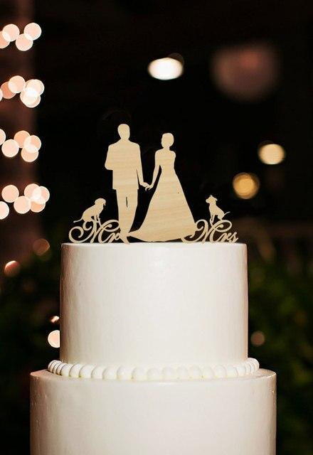 Mr Und Mrs Kuchendeckel Mit Hunde Silhouette Paar Hochzeitstorte