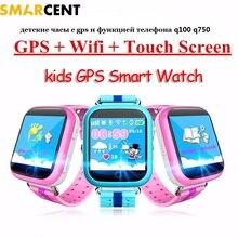 Q100 Q750 Smart Baby детские телефон умные GPS Трекер Smart Watch дети GPS Wi-Fi Местоположение ребенка SOS Вызова Анти-Потерянный устройство дети часы с gps часы gps детские часы с gps трекер для детей телефон детские