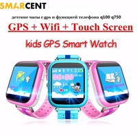 Q100 GPS Smart Baby Phone Watch Kids Smart Watchs GPS Location Wifi Touch Screen SOS Call