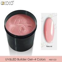 CANNI Builder Gel Supply Bulk Package 1kg Camouflage Jelly Gel Soak Off UV LED Nail Manicure Extension Gel