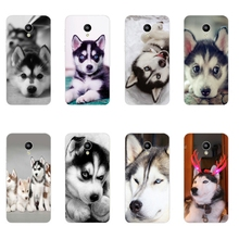 Phone Case For Meizu M1 M2 M3 Note M2 Mini M3 Mini MX4 Pro MX5 Shell Pro 5 6 Wacky Husky Design Painted Soft TPU Back Cover