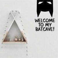 Добро пожаловать в мой Batcave Бэтмен Вдохновленный дизайн стены Художественная Наклейка Виниловая наклейка художественный декор Детская ком...