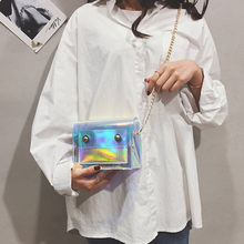 Clear Transparent crossbody bags for women laser Shoulder Bag 2019 Personality Jelly Chain Wild Messenger Bag Design Purse #WS(China)