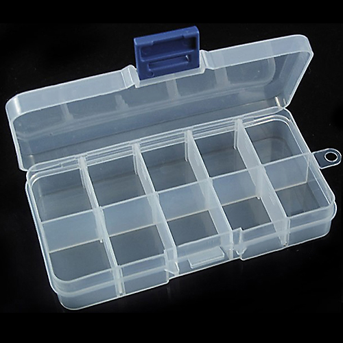 NEW 10 Small Compartment Storage Cases Box for Nail Art Tips Jewelry