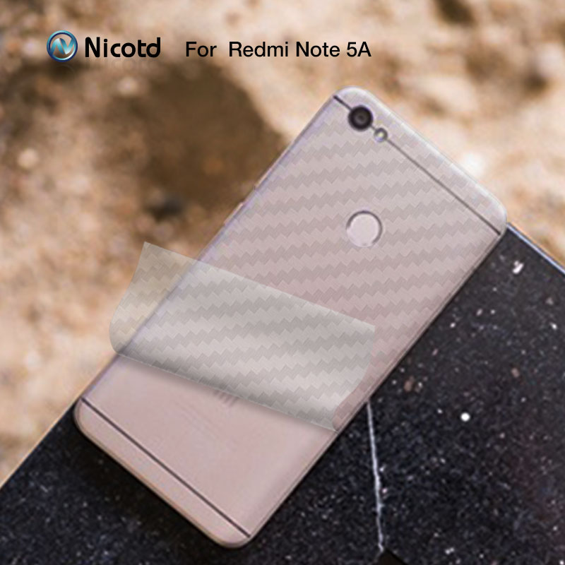 5 adet/grup Arka ekran koruyucu film Redmi için Not 5A Başbakan 3D arka kapak Karbon Fiber için Xiaomi Redmi 5 Artı S2 Not 4X4 Pro