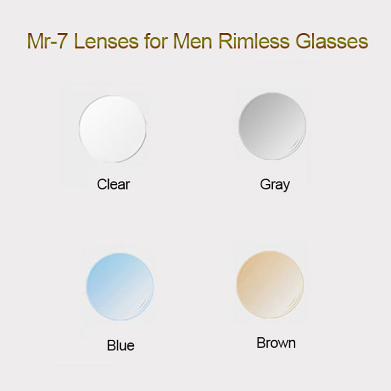 MR-7 Lenses for Men Rimless Diamond Cutted Glasses Frame,Customized Shape Choices and Optional Colors