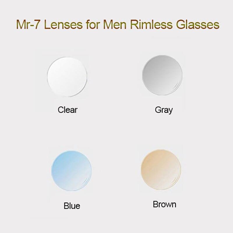 MR-7 Lentilles pour Hommes Sans Monture De Diamants Cutted Lunettes Cadre, Forme Personnalisée Choix et En Option Couleurs