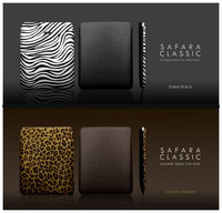Luxury Zebra Black Genuine Leather COVER CASE For IPAD 2 3 Leather Handbag Leather Cover For